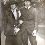 Wyner Album, couple standing
