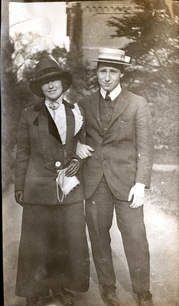 Wyner Album, couple standing