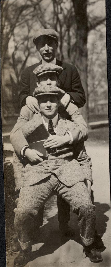 Wyner Album - Three Men Posing