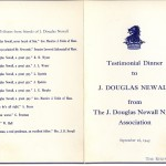 Testimonial Dinner to J. Douglas Newall - Cover